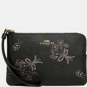 💜NEW WITH TAGS💜COACH ZIP WRISTLET-RIBBON  🌻💜🌻